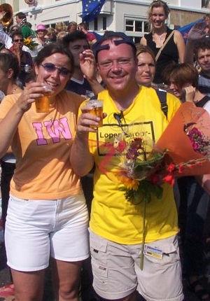 Vierdaagse Nijmegen 2003 - De traditionele vierdaagse van Nijmegen is met ruim 40.000 deelnemers een van de grotere wandelevenementen van Europa.