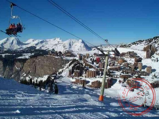 Avoriaz gezien vanuit de skilift