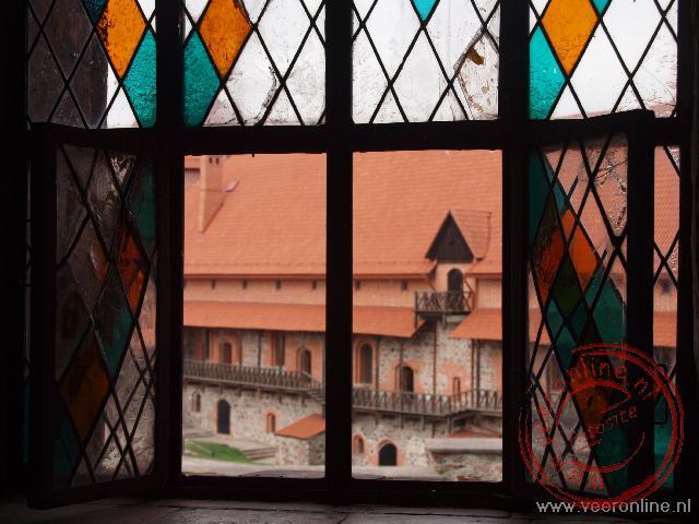 Een doorkijkje op het kasteel van Trakai