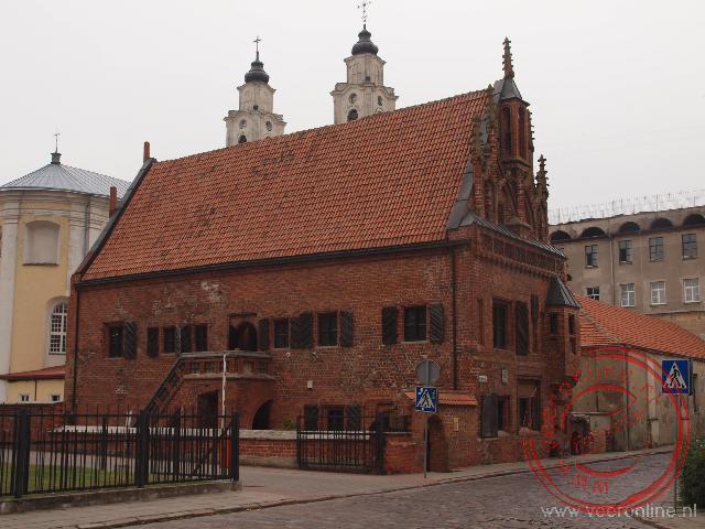 Het Parkunas handelshuis in Kaunas is tegenwoordig eigendom van de Jezuïten