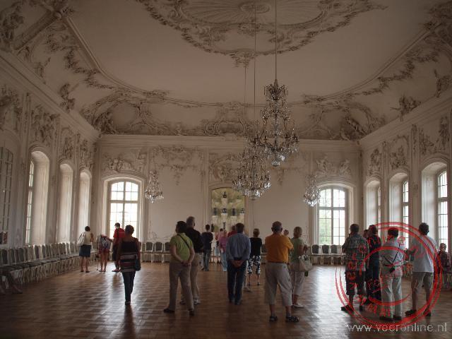 Het interieur van het Rundalepaleis in Letland. Het paleis van het zomerverblijf van de Hertog van Koerland.