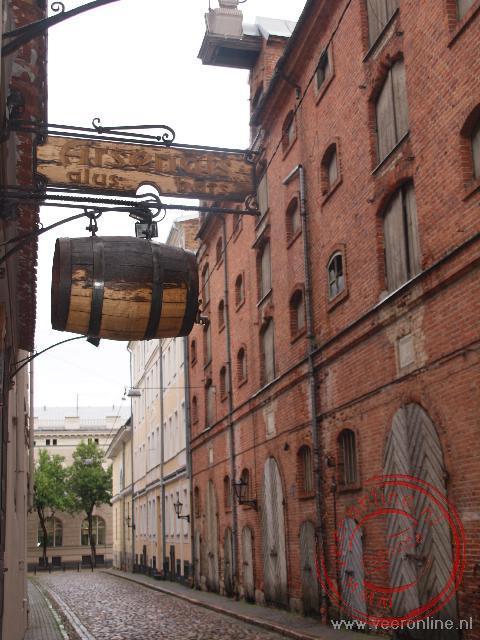 De oude pakhuizen in de oude binnenstad van Riga