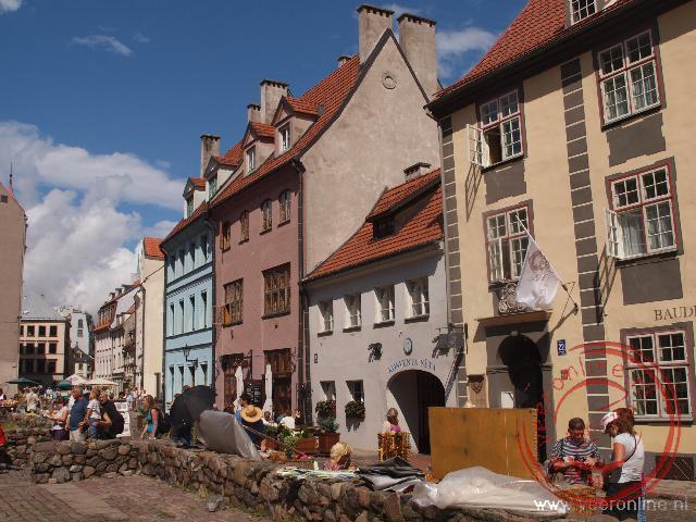 Een gezellig straatje in het oude centrum van de Letse hoofdstad Riga