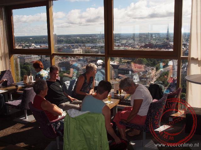 Uitzicht vanaf de 26ste verdieping op Riga vanuit de Radisson Skybar