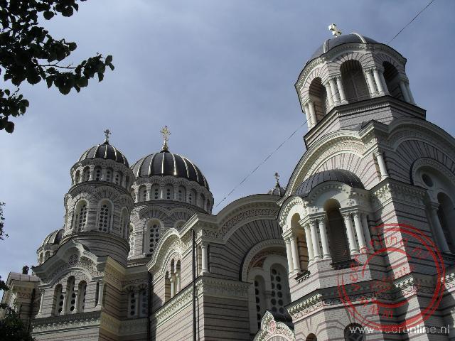 De Grote Russische Orthodoxe kerk in Riga