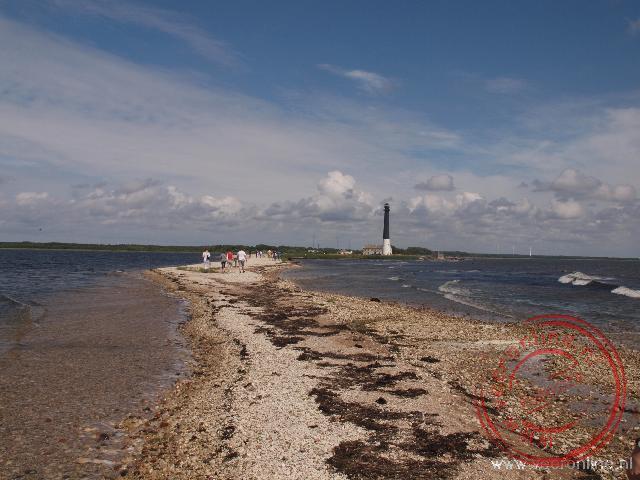 De vuurtoren van Saare op de uiterste punt op het eiland Saaremaa