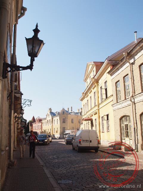 Het gezellige straatbeeld van Tallinn