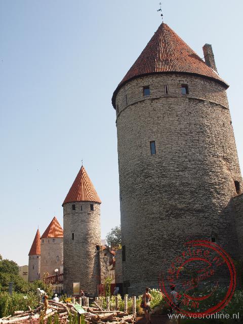 Vier verdedigingstorens in Tallinn op een rij