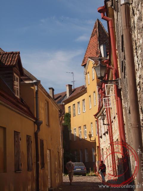 Smalle en gezellige straatjes in Tallinn