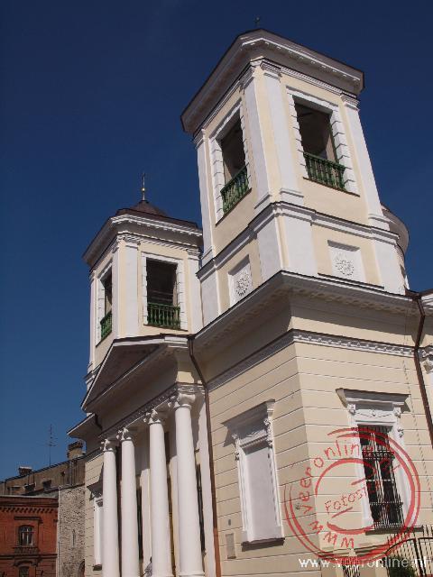 De Russische orthodoxe Nikolai Kirik gebouwd in 1827
