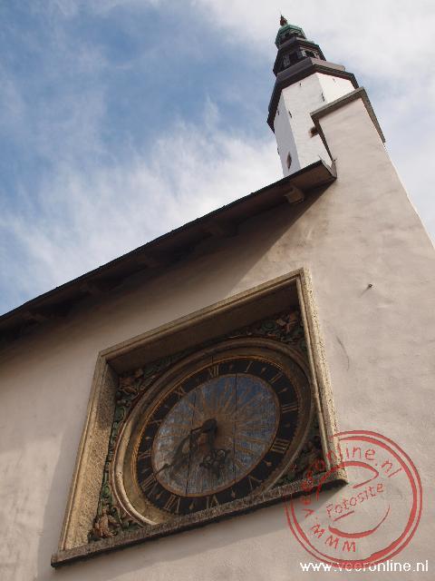 Het houten uurwerk van de Heilige Geest kerk uit 1684