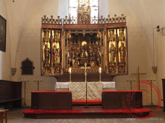 Het interieur van de Heilige Geest Kerk in Tallinn