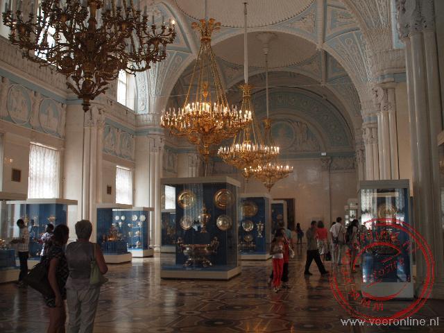 De Alexanderzaal uit 1837 diende als ontvangstzaal in de Hermitage