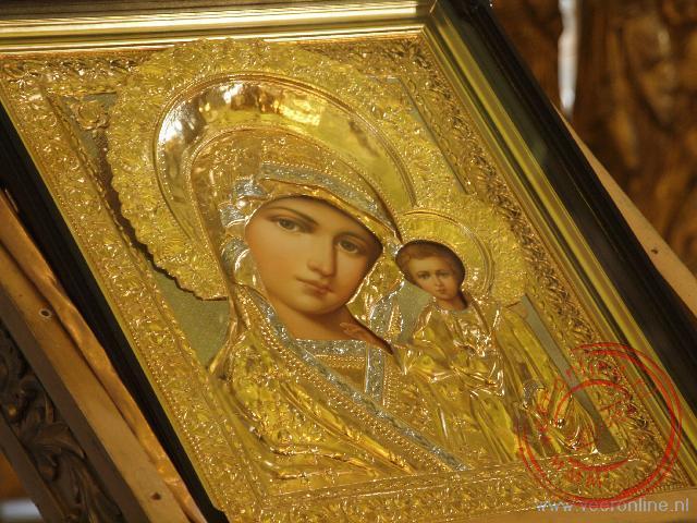 Een fraaie Russische icoon in de Petrus en Paulus Kathedraal in Sint Petersburg