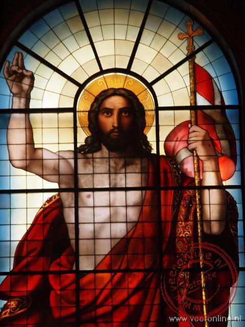 De prachtige galsafbeelding in de Iconostase in de Izaäks Kathedraal in Sint Petersburg