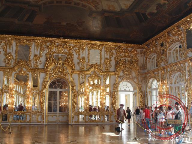 De Grote Zaal in het Catharinapaleis is een pronkstuk van architect Rastrelli