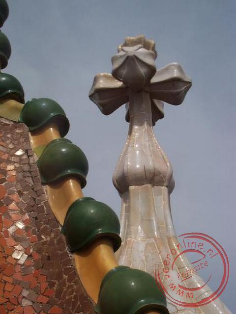 Een detail van het dak