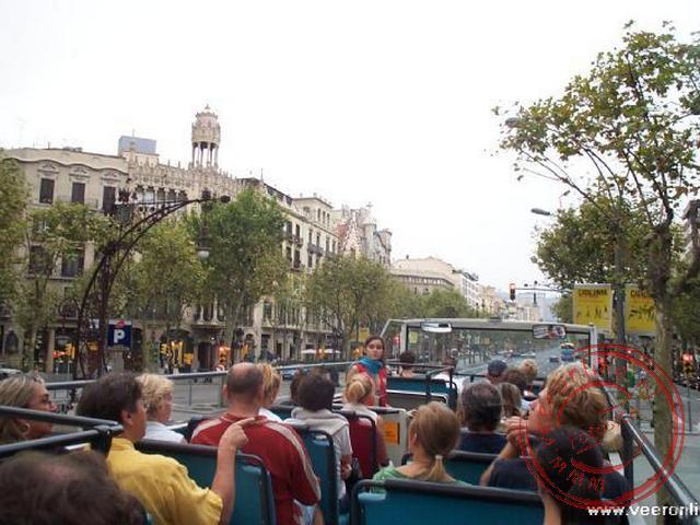 Vanaf het dak vanuit de bus Turistic hadden we leuk uitzicht over Barcelona