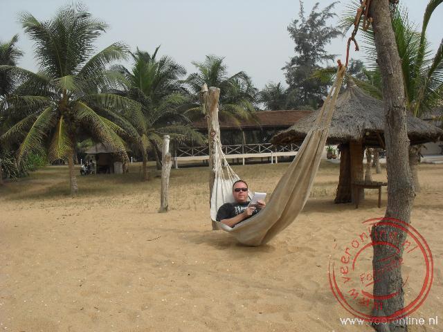 Lekker uitrusten op het strand in Grand Popo