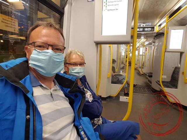 Het is rustig in de Berlijnse metro