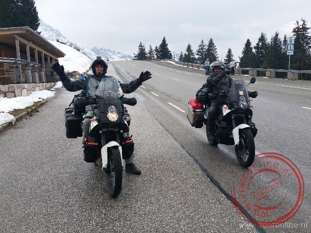 In de sneeuw in het Berchtesgaden National Park