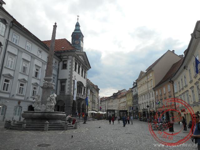 Het straatbeeld in het sfeervolle Ljubljana