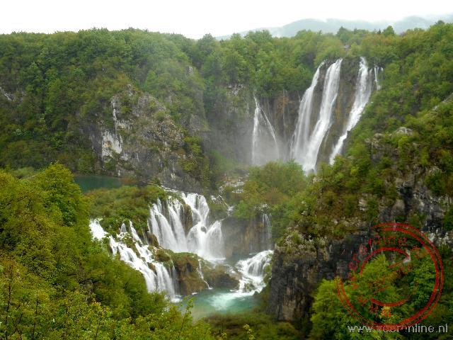 De watervallen bij de Plitvice meren
