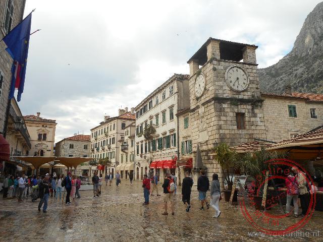 De vestingsstad Kotor aan de gelijknamige baai
