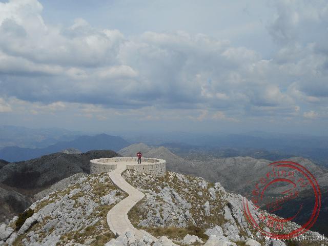 Het hoogste punt in het Lovcen national Park