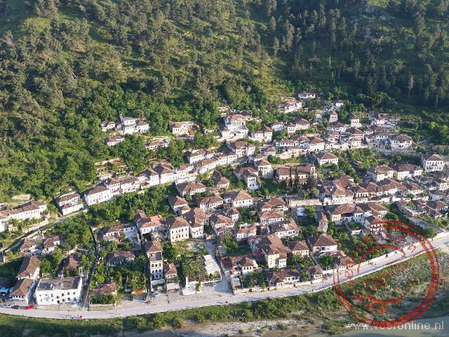 De oude Ottomaanse huizen in Berat