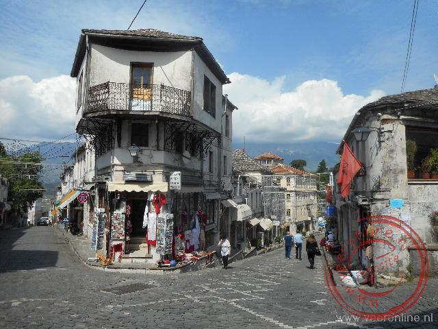 De oude sfeervolle wijk van Gjirokaster