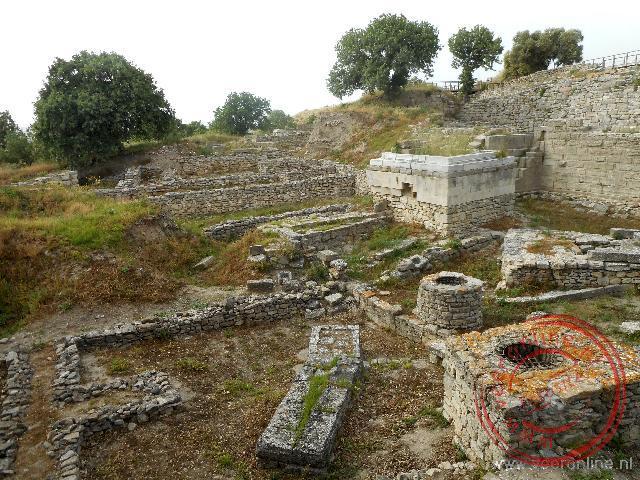 De restanten van de oude stad Troje