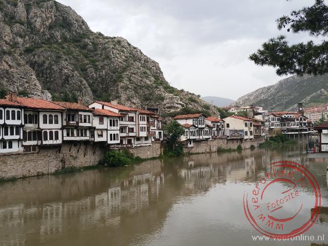 De oude huizen van Amasya