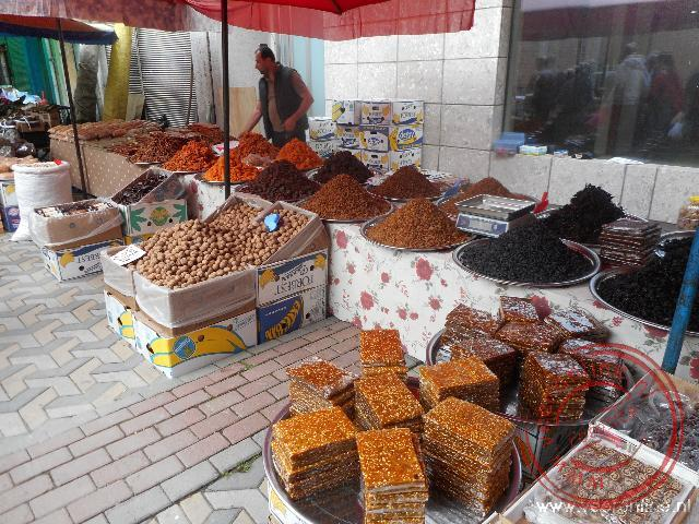 Een lokale markt in het plaatsje Macka
