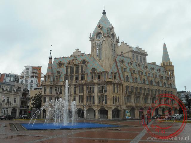 Het centrale plein van de badplaats Batumi