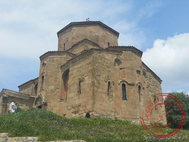 De Dzjvari koepelkerk nabij de oude hoofdstad Mtscheta
