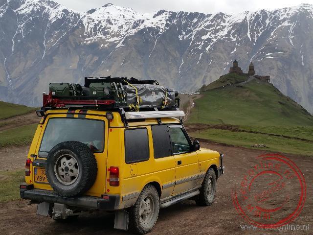 Met onze eigen auto tot aan het Kazbeki klooster