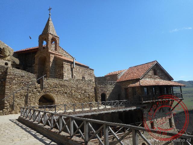 Het David Gareja Klooster ligt precies op de grens met Azerbeidzjan