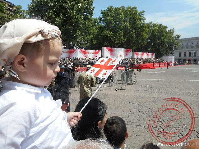 Een militaire parade op het Freedom plein