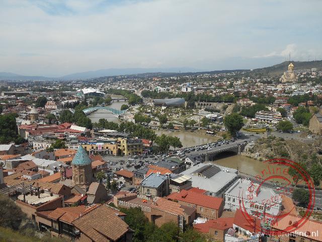 Uitzicht op de Georgische hoofdstad Tbilisi