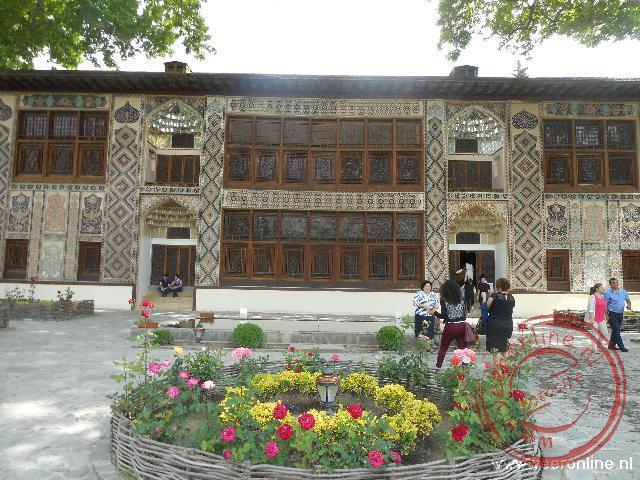 Het oude zomerpaleis van koning Sheki Khans