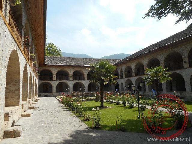 In de oude karavanserai in Sheki is tegenwoordig een hotel gevestigd
