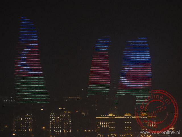 De Flaming Towers in Baku