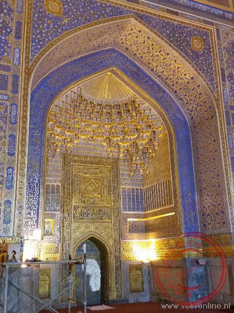 De moskeeën in Oezbekistan zijn voorzien van schitterende mozaïeken