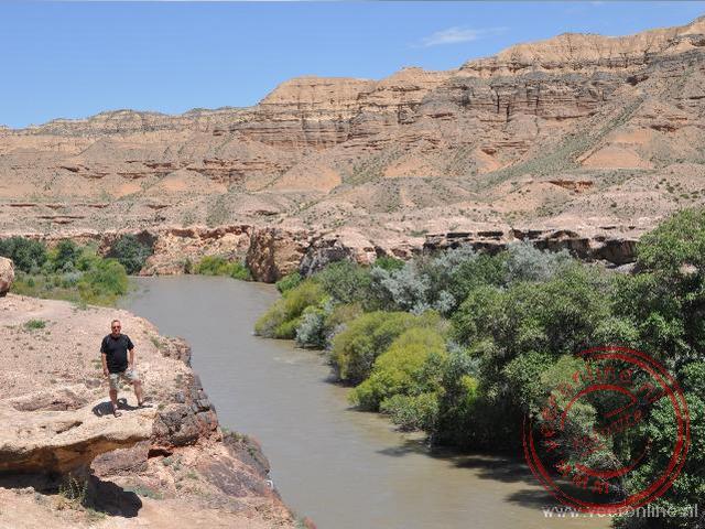De rivier nabij de Charyn Canyon