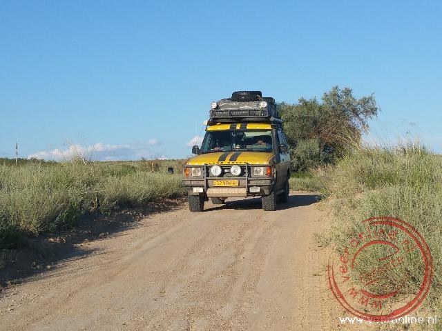 Rijden door het National Park Altyn Emel
