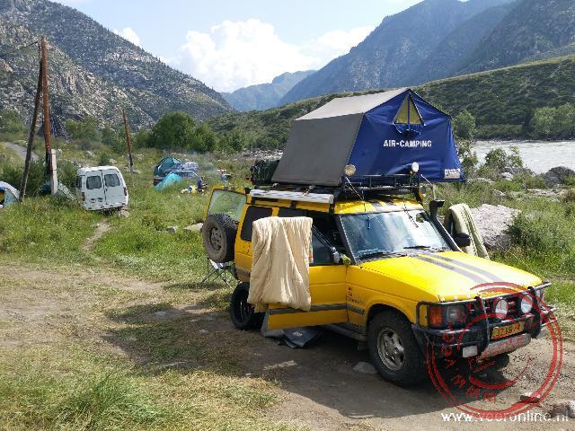 Kamperen in de Altai mountains