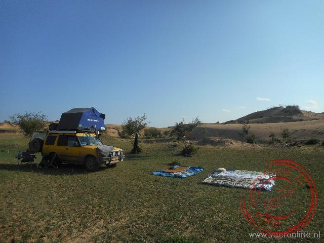 Kamperen bij de Mongol Els zandduinen in het Khögnö Khan Uul Nature Reserve