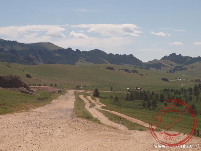 De onverharde wegen in het Terelj National Park