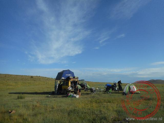 Kamperen in Oost Mongolië